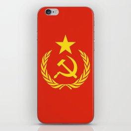 Russian Communist Flag Hammer & Sickle iPhone Skin