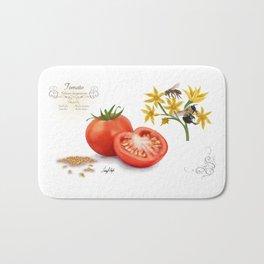 Tomato and Pollinators Bath Mat