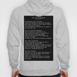 The Four Agreements #minimalist 2 Hoody