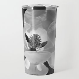 Magnolia In Black And White Travel Mug