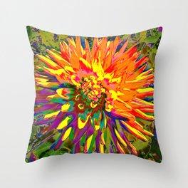 Extreme Dahlia Throw Pillow