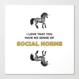 Social Norms Canvas Print