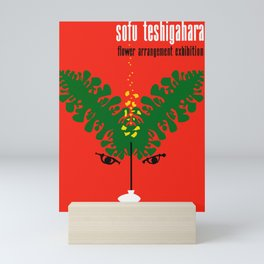 Exhibition Poster Sofu Teshigahara Flower Arrangement Kamekura Mini Art Print