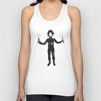edward scissorhands Tank Tops featuring Edward Scissorhands by Steal This Art