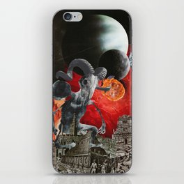 He Looks Up to Us with Joy in His Eyes iPhone Skin