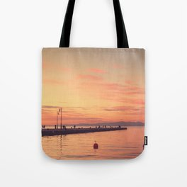 Trieste. Sunset over the Molo Audace. Tote Bag