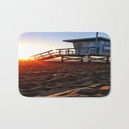 "Redondo Beach ""Life Guard Tower 3"" Bath Mat"