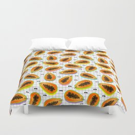 papaya Duvet Cover