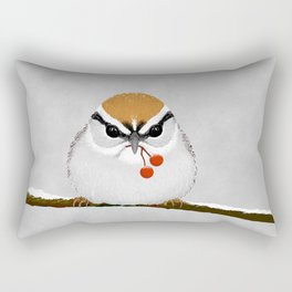 Chipping Sparrow on a Branch Rectangular Pillow
