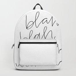 blah weekend Backpack