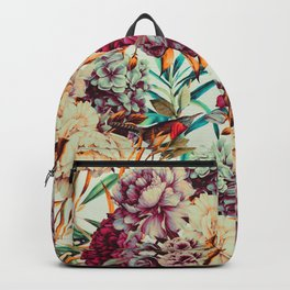 Bouquets pink vintage flowers 10 Backpack