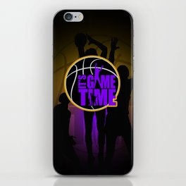 It's Game Time - Purple & Gold iPhone Skin