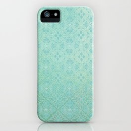 Green Watercolor Tile iPhone Case