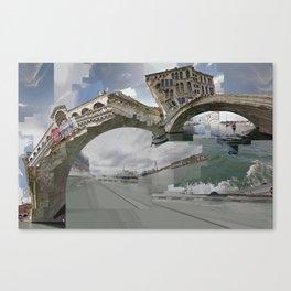 Venice Twice bridge Rialto, Italy Canvas Print