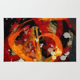 Into the dragon abstract  art Rug