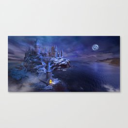 midnight castle Canvas Print