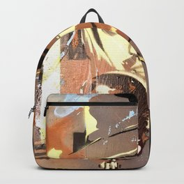 Tom Petty. painting. learning to fly. Backpack