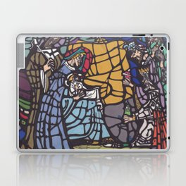 Stained Glass - Nativity Laptop & iPad Skin