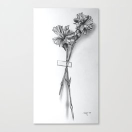 Taped Flowers Canvas Print