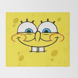 Spongebob Naughty Face Throw Blanket