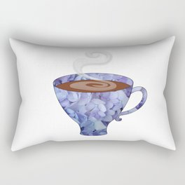 blue hydrangea espresso cup - coffee cup series Rectangular Pillow