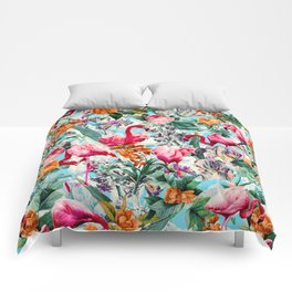 Floral and Flamingo VII pattern Comforters