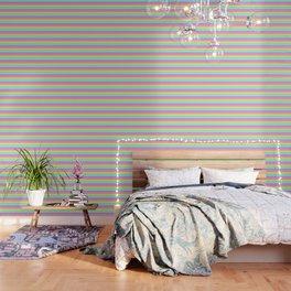 Pastel Rainbow Stripes Wallpaper