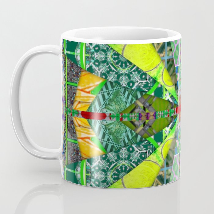 number 238 green on green with red pattern Coffee Mug