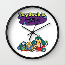 Psyduck's Modern Life. Wall Clock