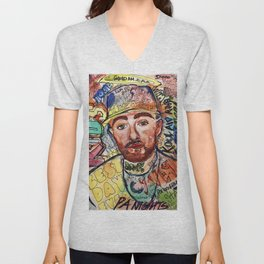 mac miller,rip,kids,drawing,painting,sketch,colourful,colorful,lyrics,rap,hiphop,art,poster,fan Unisex V-Neck