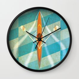 The Serenity of Sculling Wall Clock