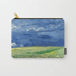 Wheatfield under thunderclouds by Vincent van Gogh Carry-All Pouch