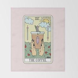 COFFEE READING Throw Blanket