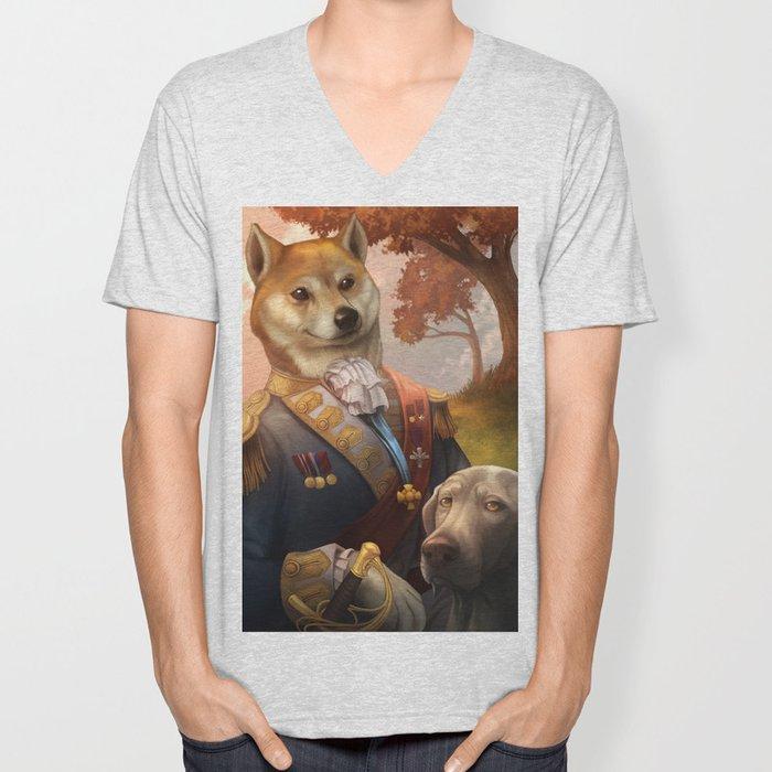 Royal Shiba Dog Portrait Unisex V-Neck