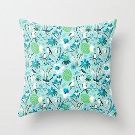 Finally Easter! [blue'n rose] Throw Pillow