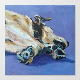 A Dog's Paws Portrait Canvas Print