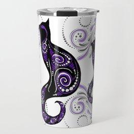 Swirly Cats Travel Mug