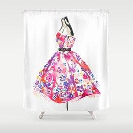 Floral Dress Shower Curtain