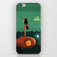 submarine iPhone & iPod Skins featuring Submarine by Ilias Sounas