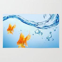 GOLDFISH AQUARIUM WATER ART Rug