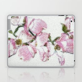 Dogwood Tree Flowers (stained glass-pink) Laptop & iPad Skin