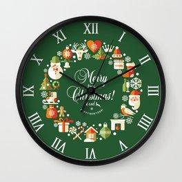 The Circle of Christmas Stuffs Wall Clock
