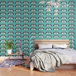 Kissing Puffins Wallpaper