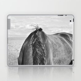 Horse Back in Black and White Laptop & iPad Skin