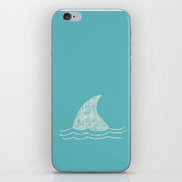 Beach Series Aqua - Shark Animal in the deep See iPhone Skin