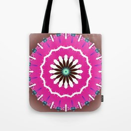 Bright Pink and White Flower Tote Bag