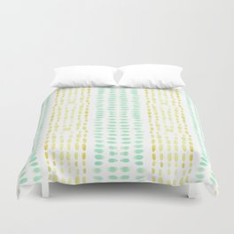 Striped dots and dashes Duvet Cover