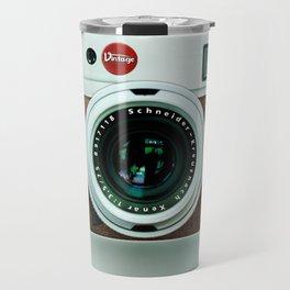 Retro vintage leather camera Travel Mug