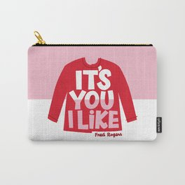 It's You I Like Mister Rogers Sweater Carry-All Pouch