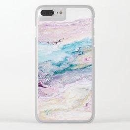 Purple Ocean Clear iPhone Case